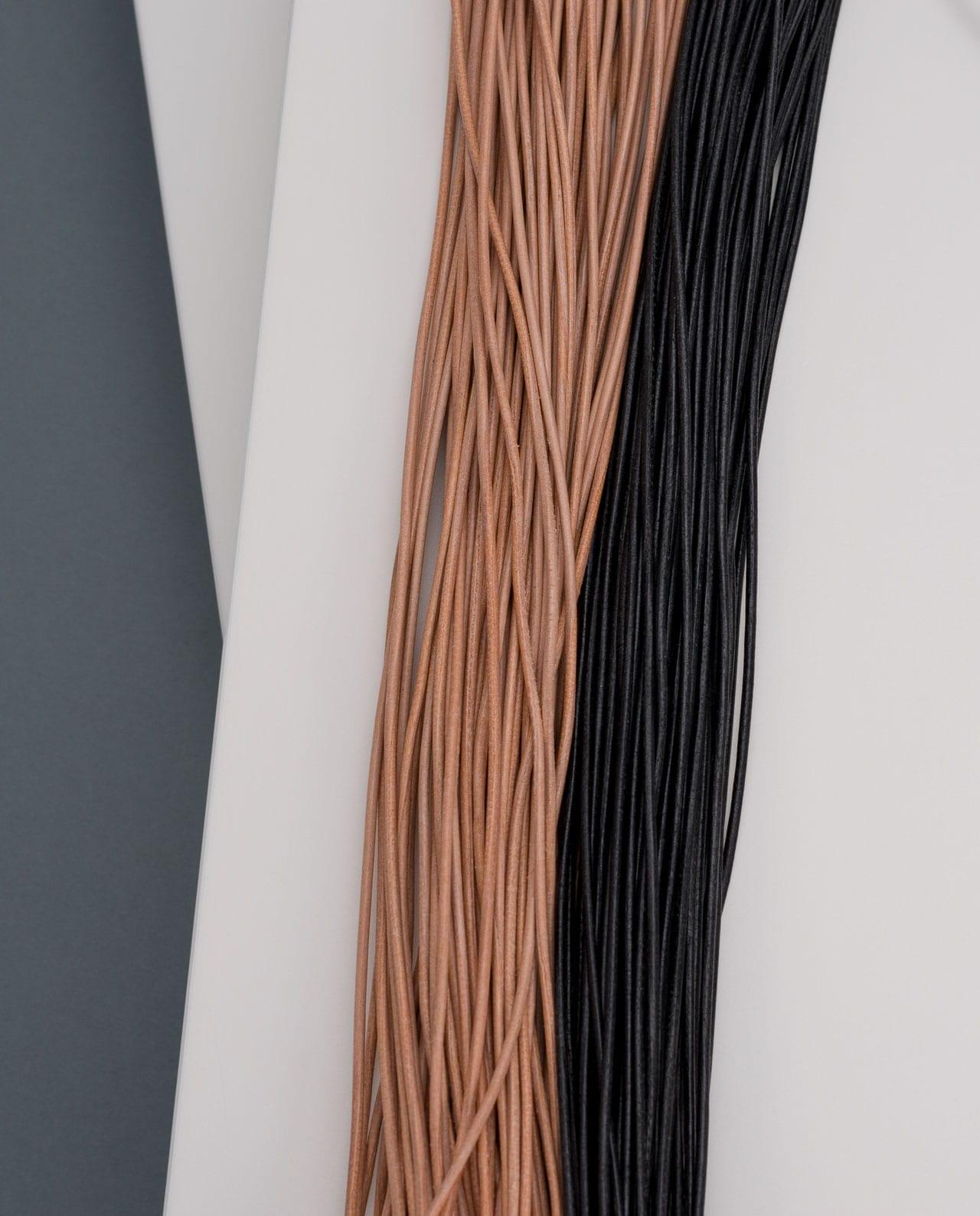 CONLIGHT Lederband natur braun und schwarz