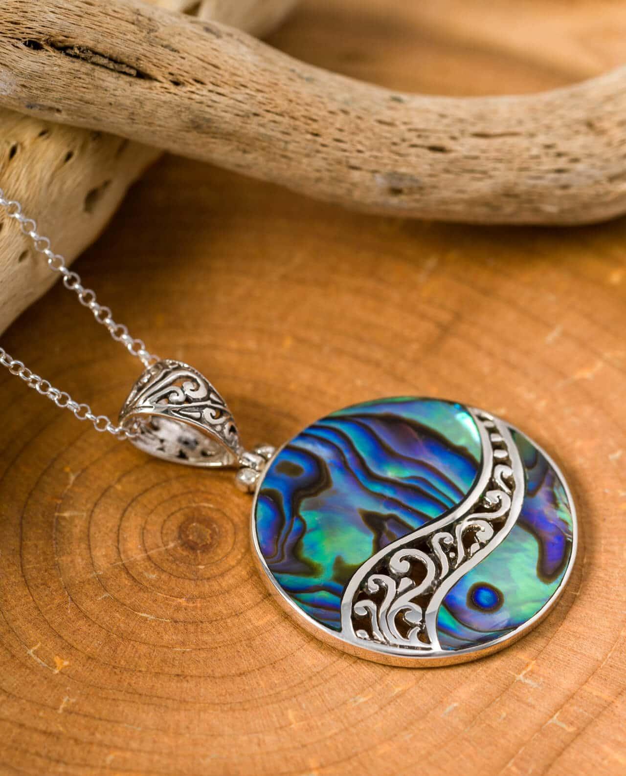 CONLIGHT Abalone Paua Perlmut Anheanger