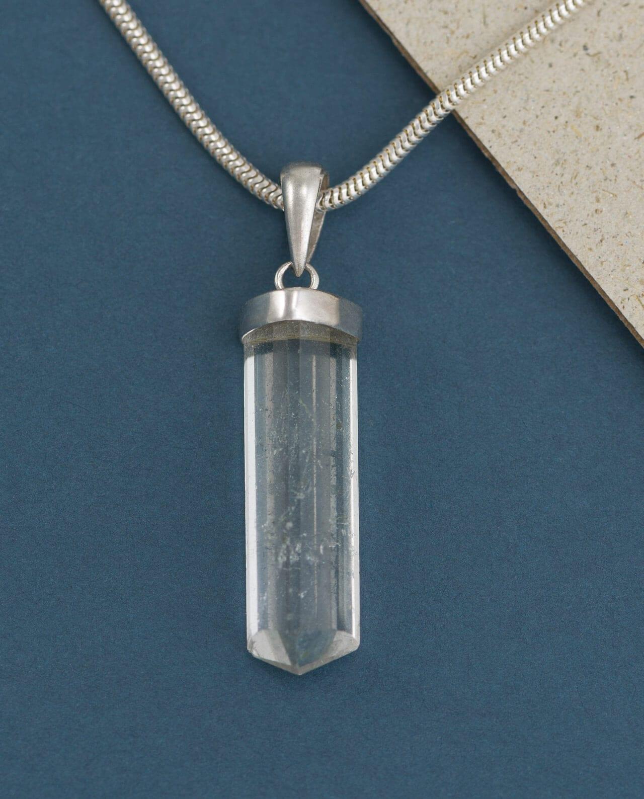 CONLIGHT Beryll Silber Anheanger facettiert