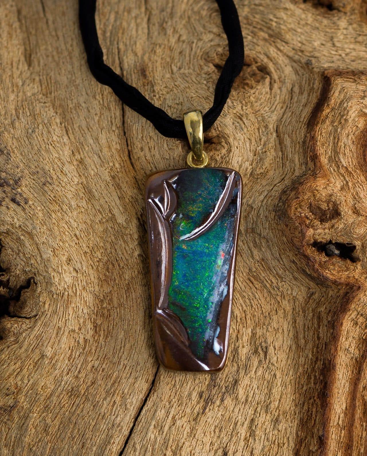 CONLIGHT Boulder-Opal Anhaenger gestiftet aus Queensland