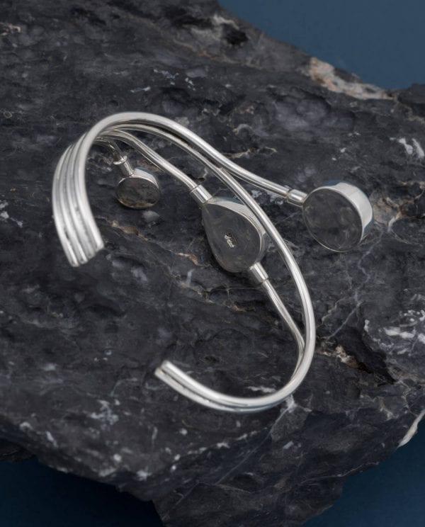 CONLIGHT Larimar Silber Armreif