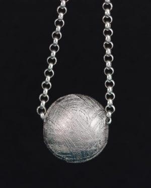Muonionalusta Meteorit Anhänger Kugel 17mm