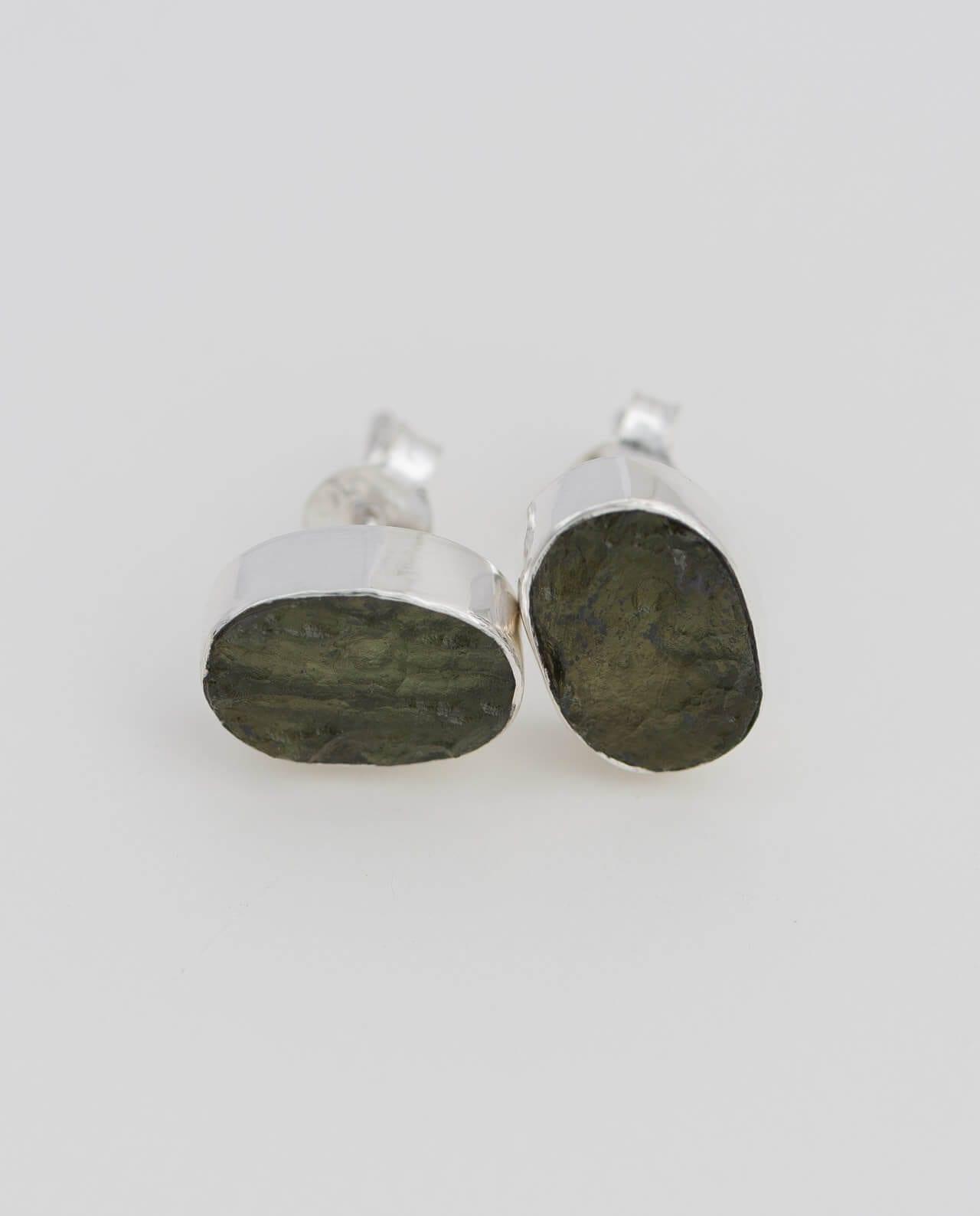 CONLIGHT Moldavit Silber Ohrringe