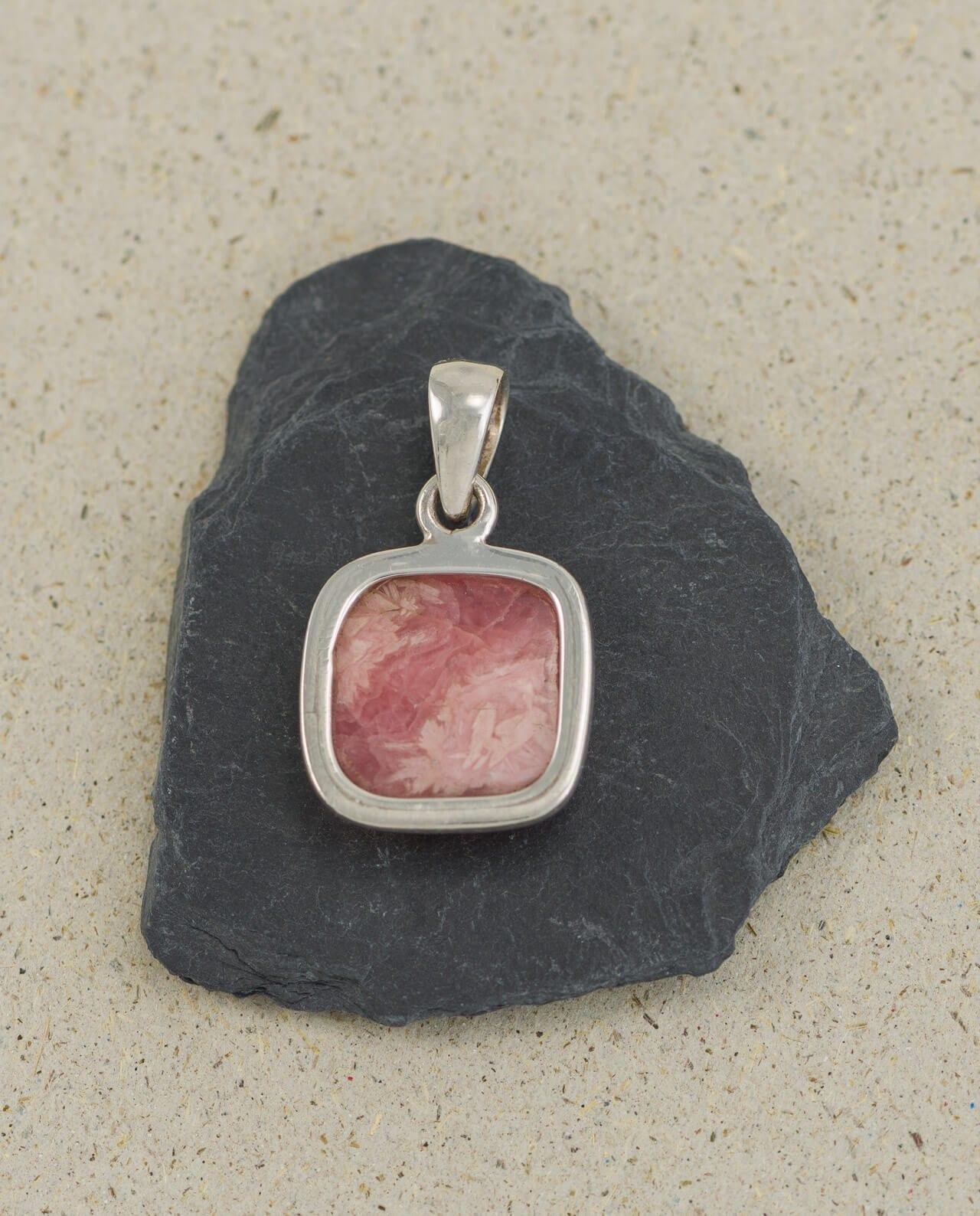 CONLIGHT Rhodochrosit Silber Anheanger Schmuck