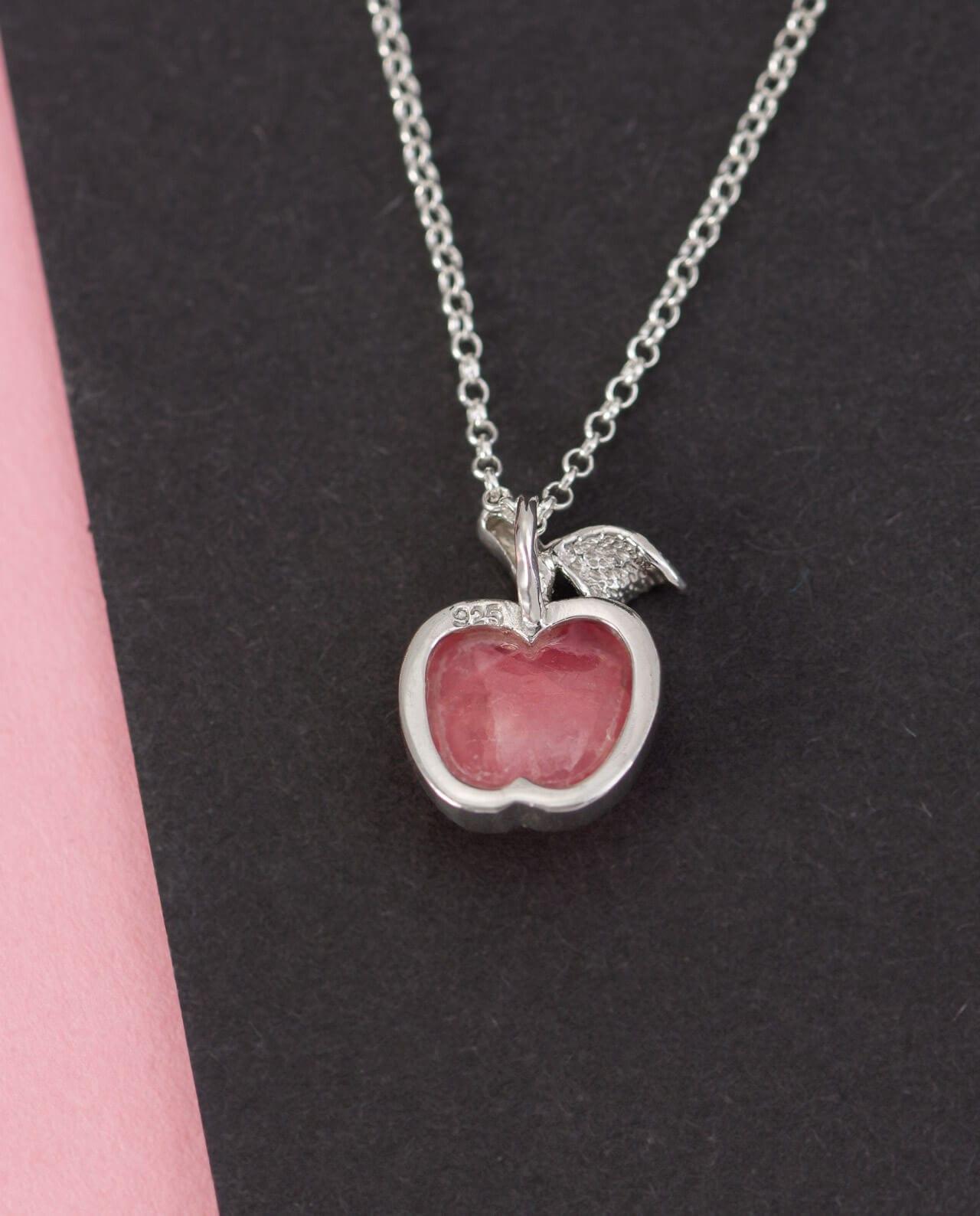 CONLIGHT Rhodochrosit Silber Anheanger Apfel