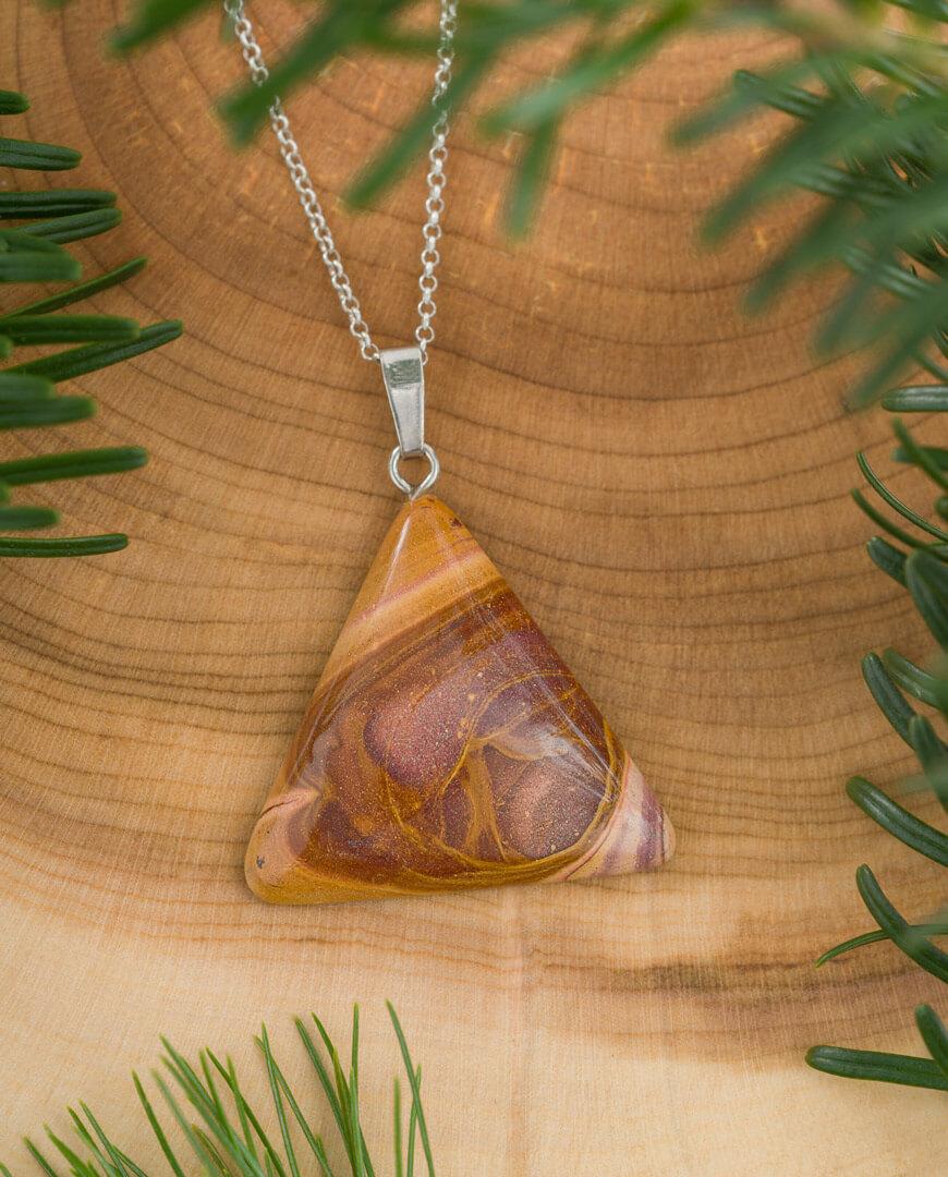 CONLIGHT Rhyolith (Liesegang-Jaspis) Silber Anhaenger