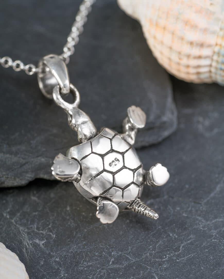 CONLIGHT Silber Anhaenger Schildkroete