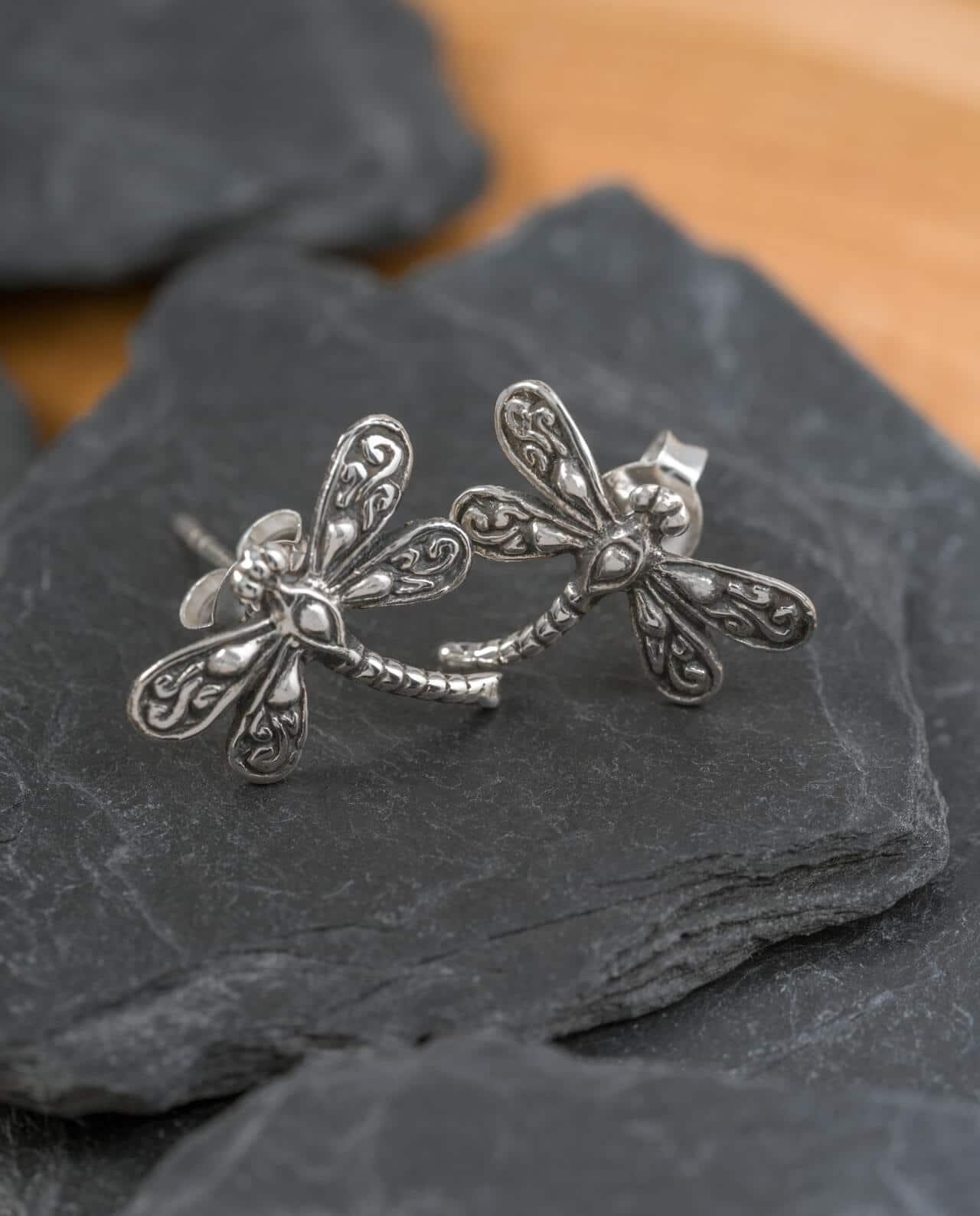 CONLIGHT Silber Ohrstecker Libelle