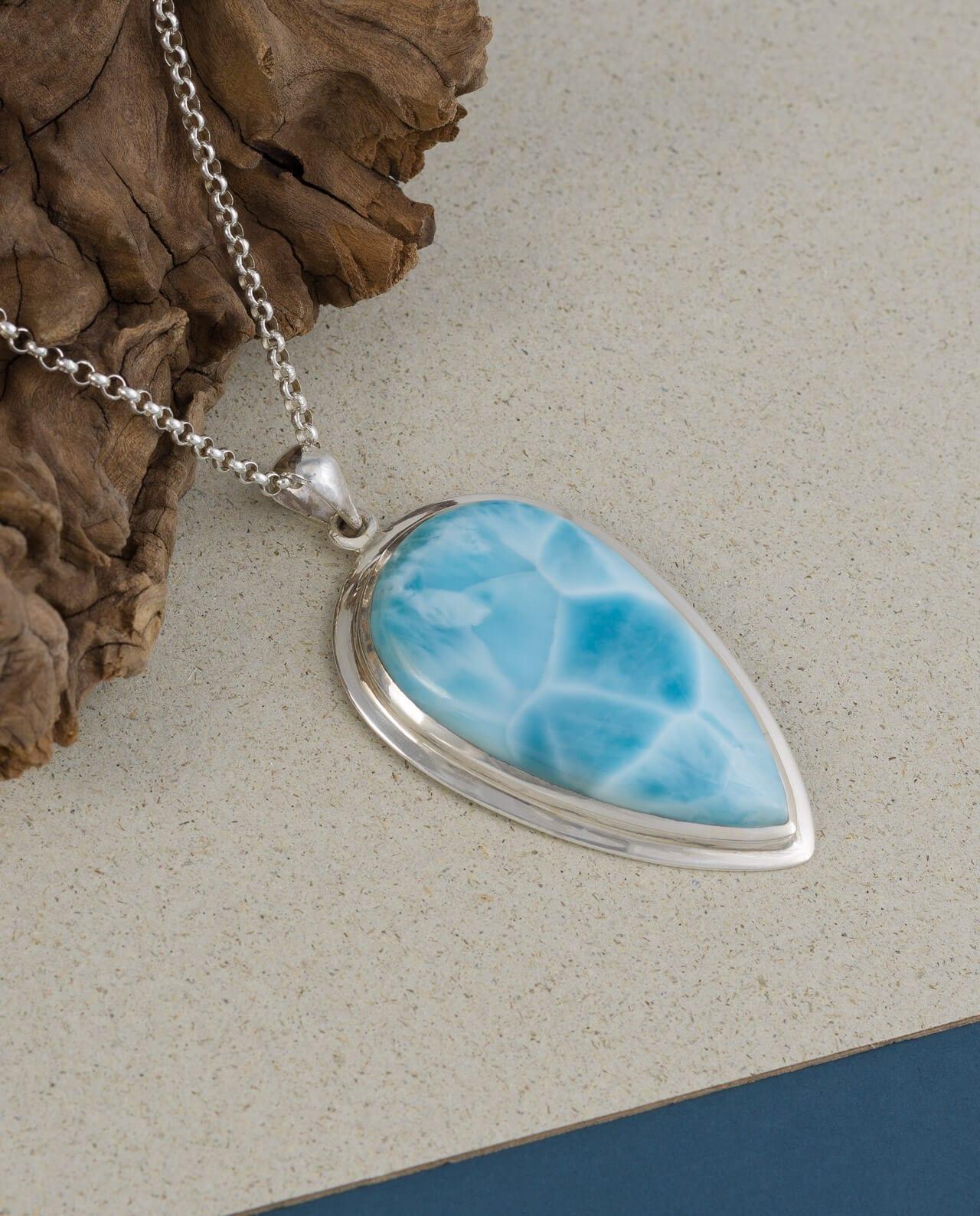 Conlight Larimar Silber Anhaenger Premium