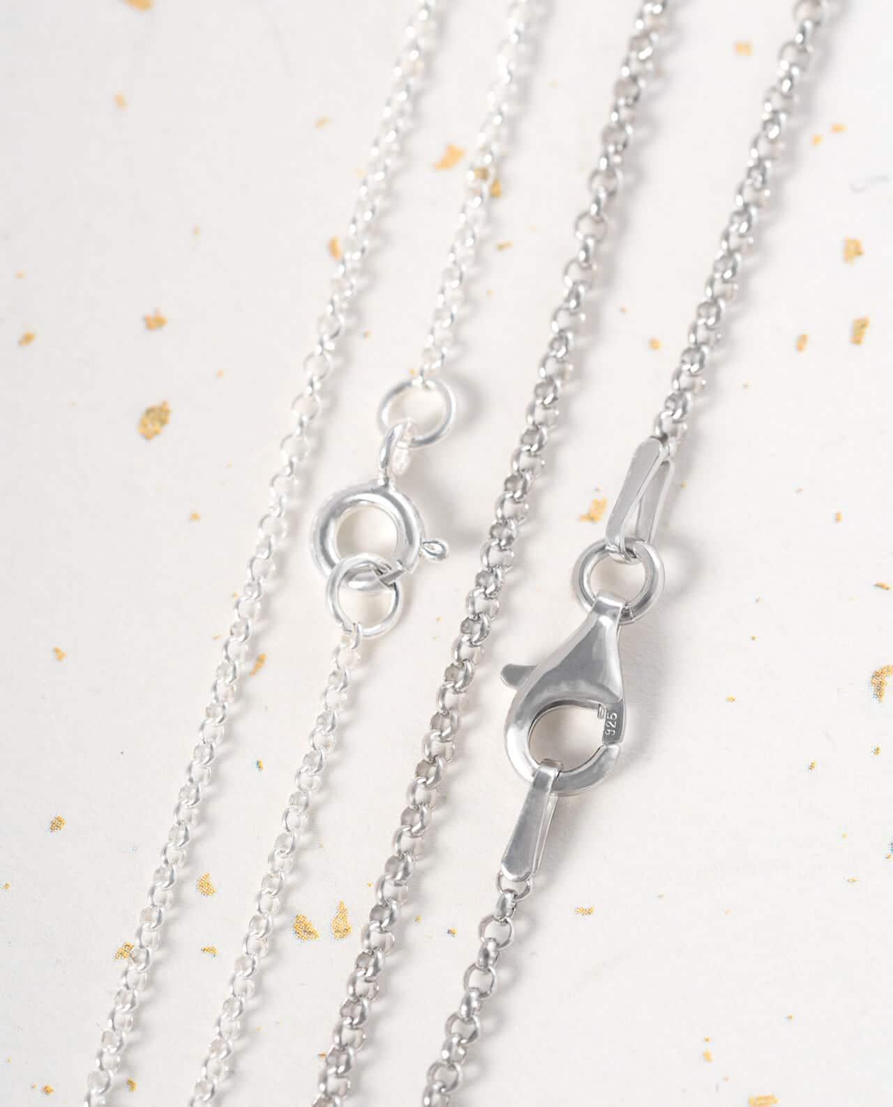 Conlight Silberkette peachain rhodiniert