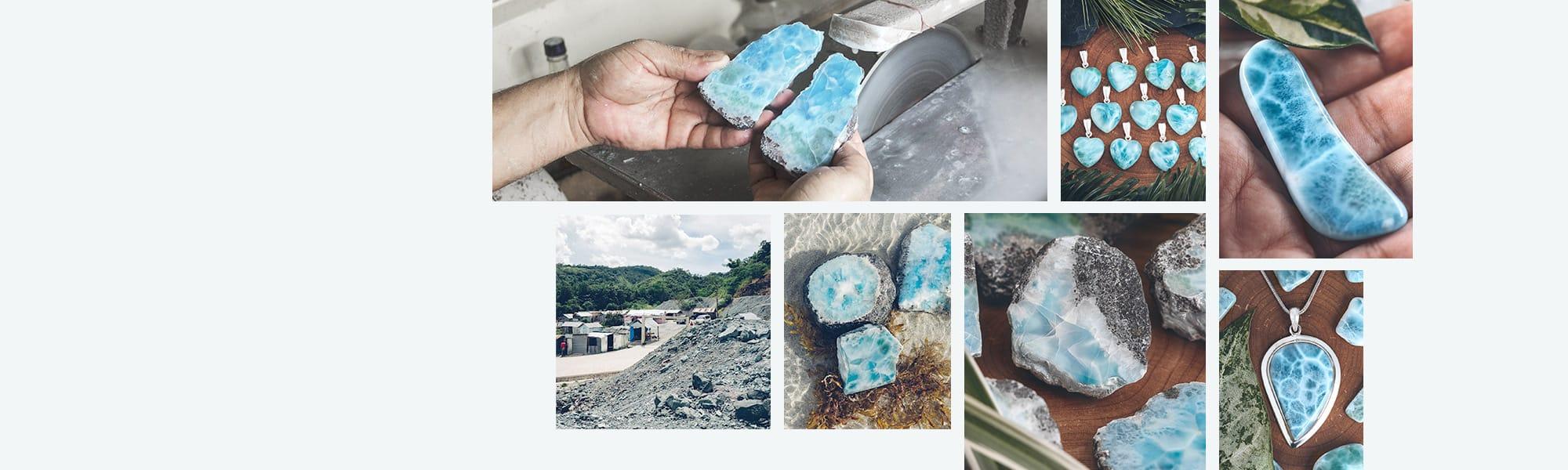 Larimar Mine CONLIGHT Produktion Larimarschmuck Larimar Stein Atlantisstein 1 – CONLIGHT
